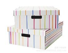 專業定做天地蓋翻蓋牛皮紙彩印鞋盒   包裝盒的3層瓦楞盒