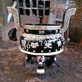 名匠工艺 宗教佛教用品 寺庙专用平口香炉  优质香炉专业制造