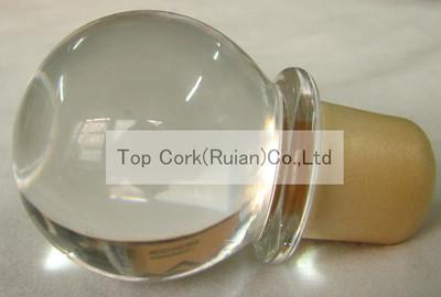 专业生产玻璃瓶赛 玻璃盖瓶塞 红酒木塞 厂家直销 高档美观