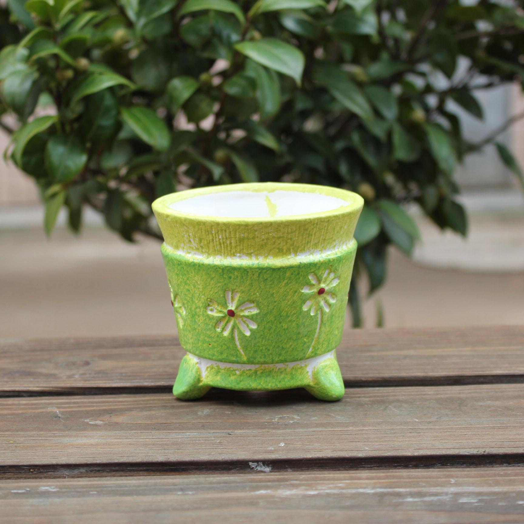 陶瓷花盆12153迷你韩国花盆园艺盆栽多肉植物台式花盆厂家直销