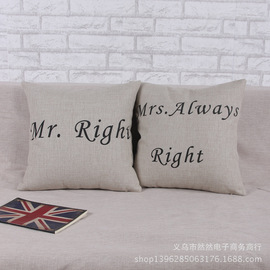 Thick pound linen cotton pillow modern minimalist English American country style by car sofa bed by bag