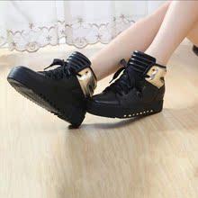 时尚个性马丁真皮牛皮短靴 内增高 中帮女式女靴   单靴 厂家直销