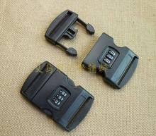 现货供应行李箱配件 塑料3位密码插扣批发 5cm 安全扣 支持颜色订