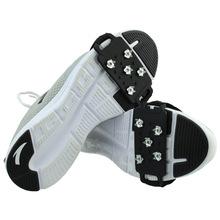 冰爪工廠戶外雪地冰地防滑冰爪鞋套硅膠橡膠防滑鞋套綁帶冰爪均碼