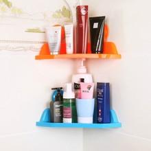 强力吸盘三角卫浴置物架 浴室厨房收纳架真空吸盘卫浴角落置物架
