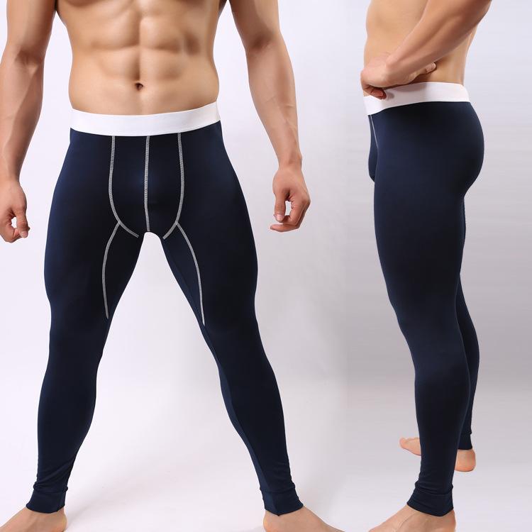 新款隆将厂家直销丝光棉薄秋裤性感时尚打底裤男士秋裤