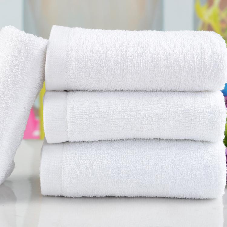 高陽廠家洗浴棉白毛巾賓館酒店毛巾批發一次性柔軟吸水毛巾
