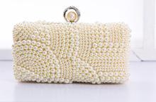 2016新款珍珠新娘禮包,鑲鉆晚裝包外貿晚宴包,廠家直銷
