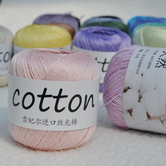 Classic cotton crochet yarn No  5 line imported Egyptian cotton