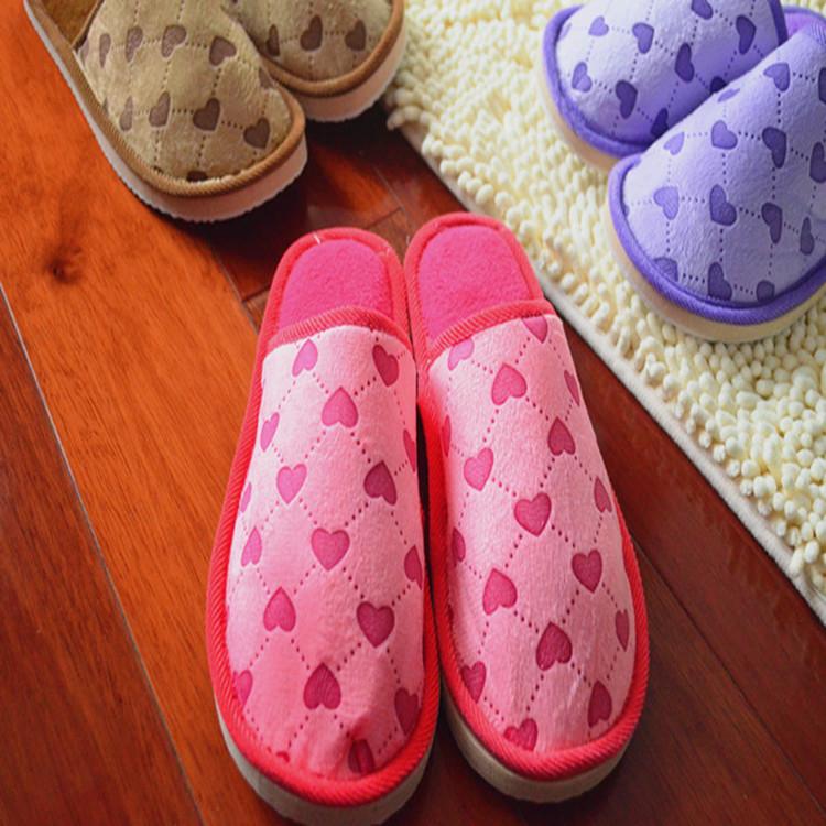 秋冬季棉拖鞋女泡沫底毛毛拖鞋 保暖家居家用四季鞋一件代发