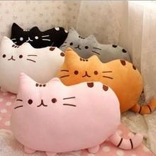 可爱饼干猫抱枕公仔创意大尾巴猫咪毛绒玩具靠垫厂家批发加标定制