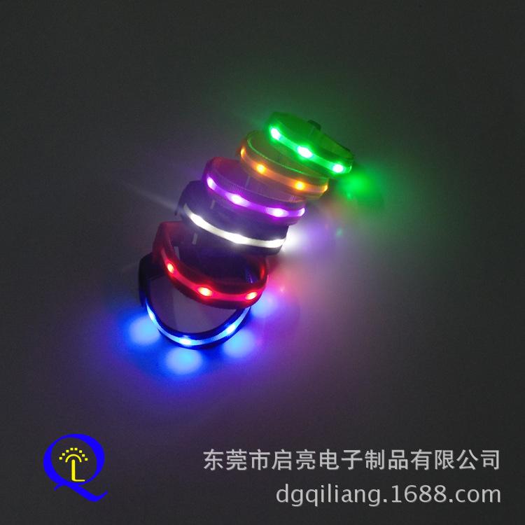 2014新款 LED尼龙手环 发光手臂带 LED手臂环彩带拉拉队助威用品