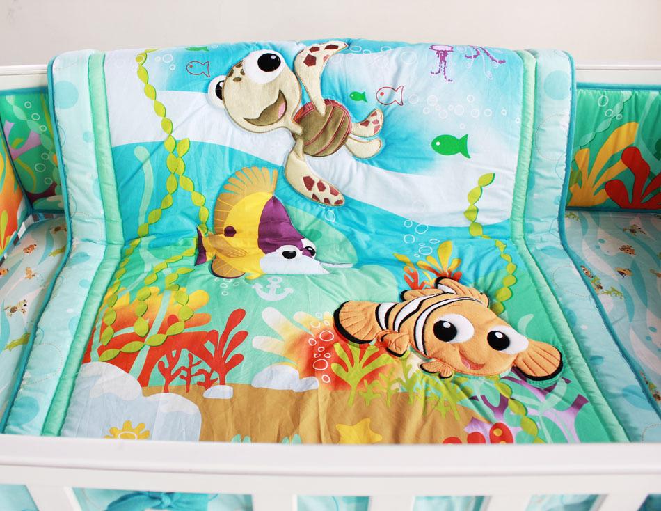 8 piece baby bedding set underwater world nursery quilt for World crib bedding