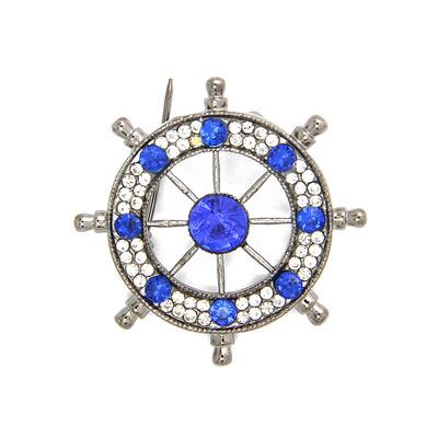 男士胸针胸花 海军风水钻船舵西服复古胸章领针欧美潮人徽章CY044