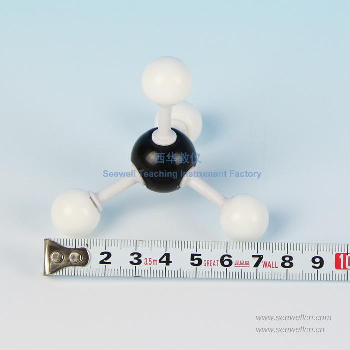 甲烷有机分子结构模型 球棍比例模型 有机分子结构模型 甲烷(CH4)