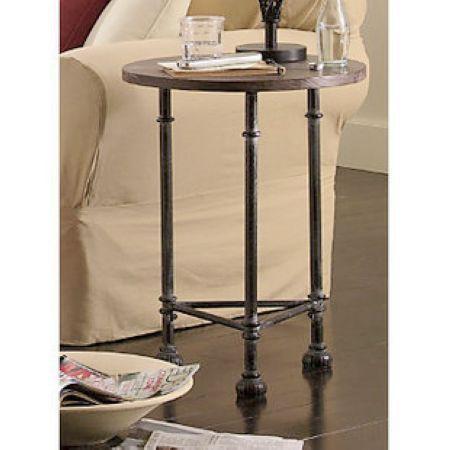 美式铁艺茶几沙发几电话桌床头柜咖啡桌实木圆几吧台桌定做