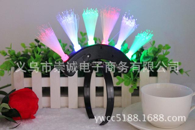1213最新款 莫干西闪光头箍 发光光纤头饰 舞会派对气氛装饰发饰