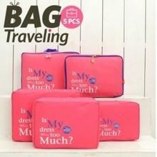 韩版旅行收纳袋5件套拉杆衣服收纳包内衣袜子整理袋