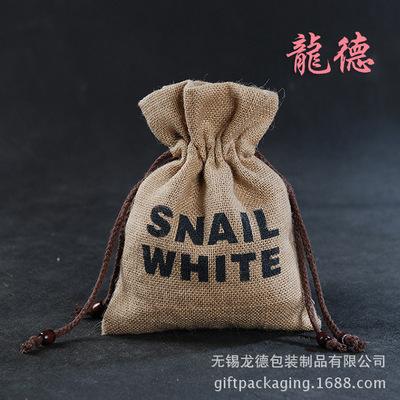 供应环保束口棉麻布袋 拉绳亚麻布袋厂家批发便捷礼品棉麻布袋
