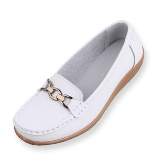 Autumn new style women's single shoes women's flat-heel fashion mother shoes casual work shoes ladies black
