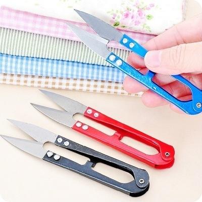 T A2E07 弹簧纱剪刀 十字绣U型小剪刀 缝纫线头剪刀 不锈钢剪刀