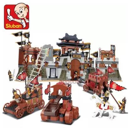 小鲁班三国演义智取荆州决战拼插式小孩拼装益智积木玩具B0267