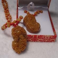 黄龙玉貔貅吊坠饰品批发玉石吊坠 翡翠貔貅摆件一件代发珠宝首饰