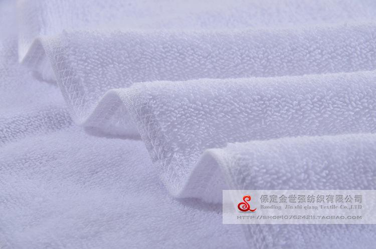 酒店宾馆浴巾厂家批发白色美容院铺床加长用浴巾洗浴加厚足疗浴巾