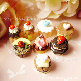 Resin vanilla chocolate sandwich cake Simulation food, food and play accessories, mobile phone shell beauty material