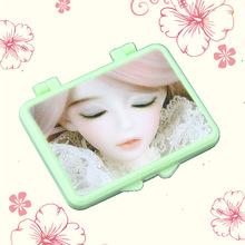 3D芭比娃娃眨眼便携双面折叠镜 实用创意可爱随身小镜子