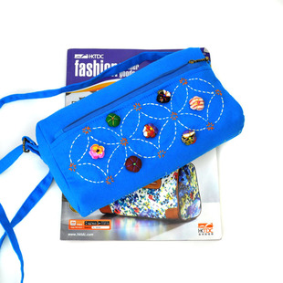 Fashion ethnic cloth bag wholesale, new ethnic bag messenger bag, featured portable canvas mobile phone coin purse