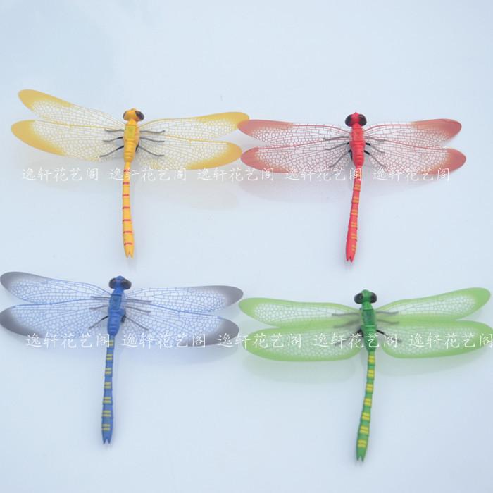 仿真蜻蜓塑料假蜻蜓摄影道具装饰动物昆虫磁铁冰箱贴蝴蝶