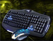 FV-TT9 键鼠套装 电脑有线键盘鼠标套件 网吧cf专用游戏发光键盘