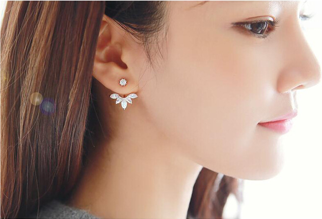 Korea style alloy plating earring (Silver 2026)NHGY0607-Silver 2026
