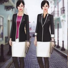職業女裝套裝 韓版經理工作服 秋冬售樓珠寶店酒店正裝套裙