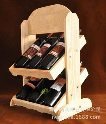 实木红酒架 创意新款热销 厂家定做批发红酒木酒架 六瓶装展示架