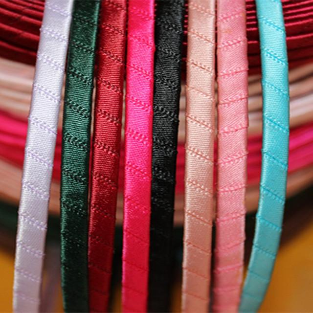 5mm发箍手工DIY发饰品配件缠绕丝带缎带半成品钢板头箍厂家批发