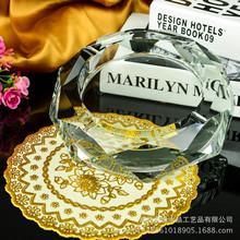 新款水晶烟灰缸方时尚创意个性礼品大号定制精品欧式烟缸实用