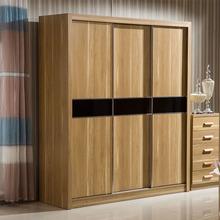 板式衣柜推拉门 卧室家具整体大衣柜1.8米 现代简约时尚定制款