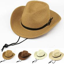 男士西部牛仔帽女士潮沙滩帽防晒大沿帽夏天小礼帽子遮阳草帽批发