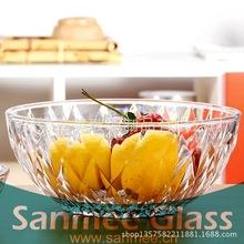 蚌埠工厂供应水晶料钻石玻璃碗 礼品专用高品质玻璃碗