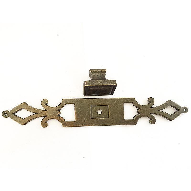 厂家生产直销家具五金配件 咖古抛光饰锌合金片 金属拉头橱柜拉手