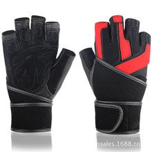 BOODUN/博頓亞馬遜護腕健身手套真皮專業舉重男子訓練運動批發