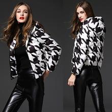 羽絨服女2019新款冬季歐美品牌大碼外套短款輕薄羽絨服女士