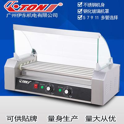 伊东ET-R2-5商用不绣钢机身 5棍香肠机 自动双控温热狗机 烤肠机