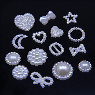 Special-shaped ABS pearl handmade flower tray, diy hair accessories, decorative diamond buckle, mobile phone beauty, jewelry accessories wholesale
