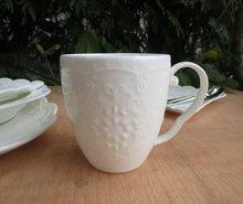 鴻遠陶瓷 蝴蝶蕾絲馬克杯底價直銷