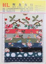 全棉帆布水果花朵印花 现代风格 帆布印花玫瑰花箱包鞋材面现货