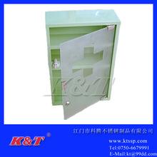 家居用品不锈钢医药箱玻璃门三角药箱金属药物柜归纳箱盒