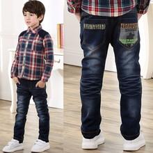 免费支持一件代发 冬装儿童牛仔裤 加棉加厚男童牛仔裤 个性童裤